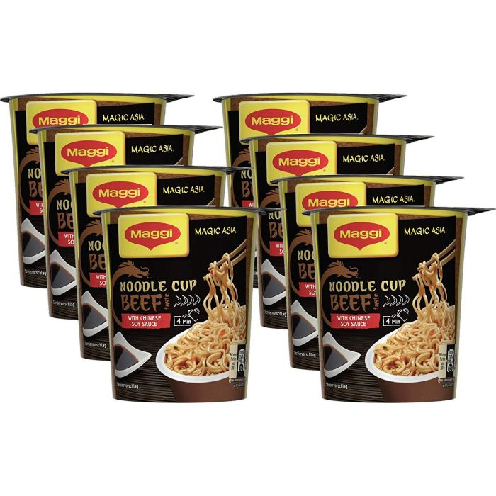 MAGGI Magic Asia Noodle Cup Beef 8x63g (Beef 8 x 63g)
